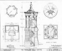 Strickland's schematics for the Cpaitol's tower